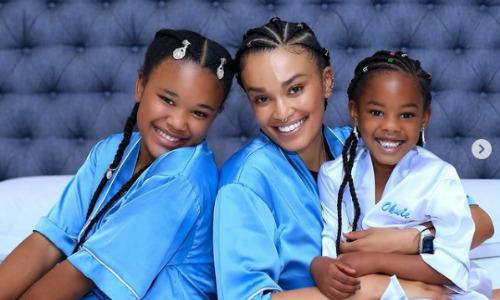 Pearl Thusi and Uzalo actress with their Lovely Children In Real Life.